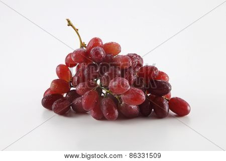 grape with water drop on white background