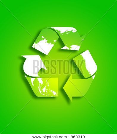 Vector Of  Recycle Sign