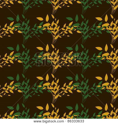 Seamless Pattern Of  Branch Of Plants