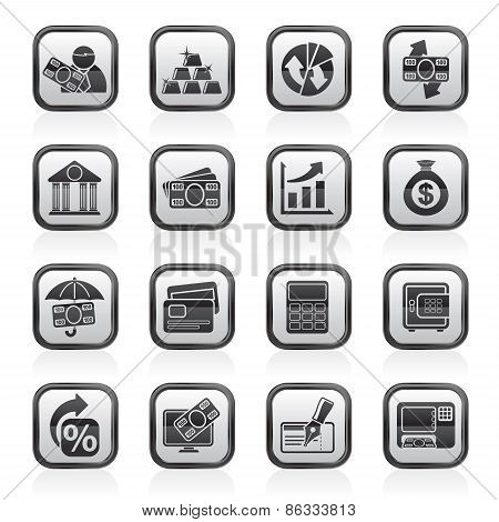 Bank, business and finance icons