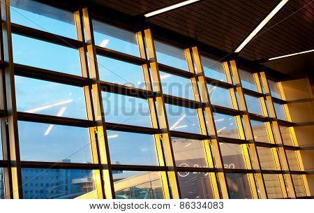 Sunny Modern Windows In Vnukovo International Airport