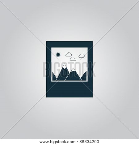 photo landscape web icon