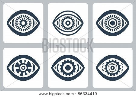 Cyber Eyes Vector Icons Set