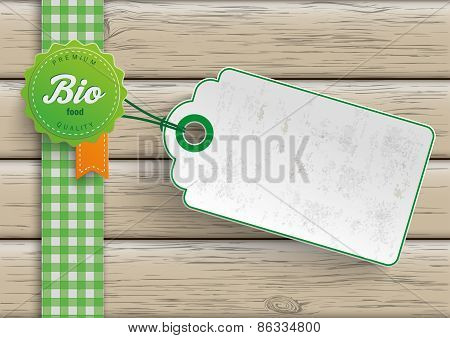 Bio Food Label Price Sticker