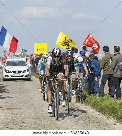 Group Of Cyclists- Paris Roubaix 2014