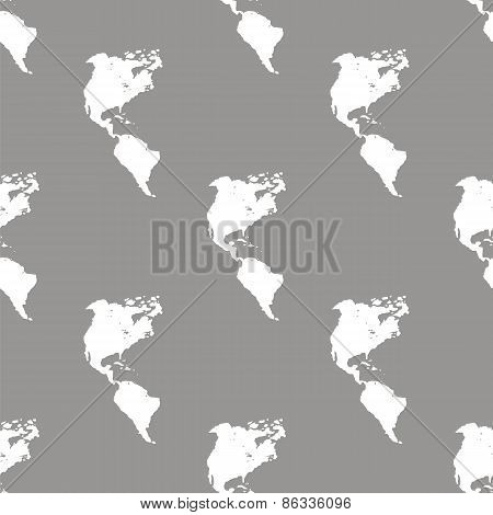 Continental Americas seamless pattern