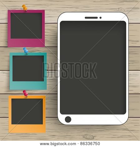 Wood Smartphone Colored Photo Frames