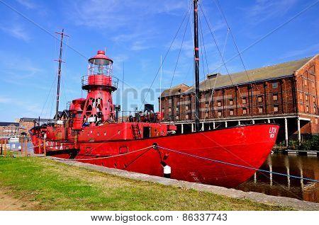 Red Sula Lightship, Gloucester.