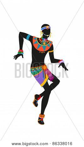 Ethnic Dance African Man