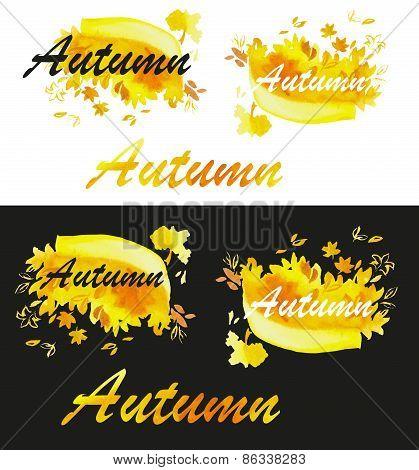 Autumn Watercolor Fill