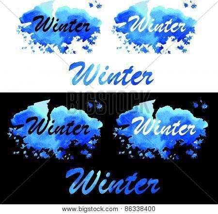 Winter Watercolor Fill