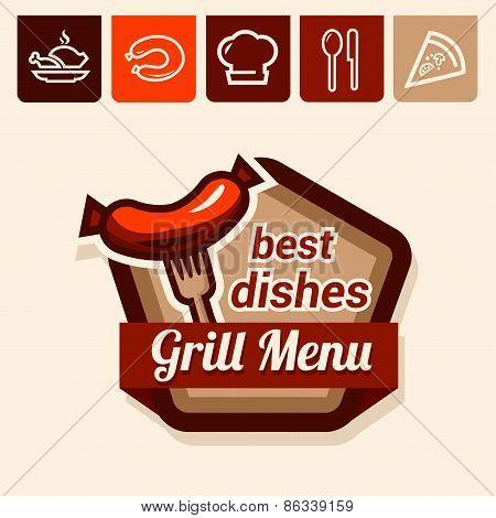 grill menu emblem