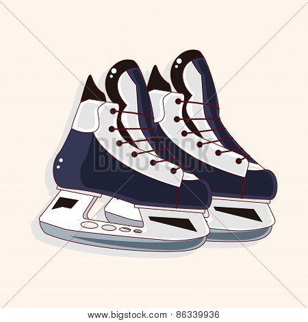 Hockey Equipment Theme Elements
