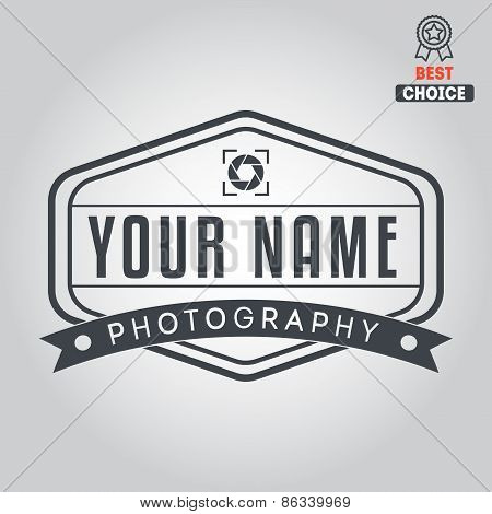 Logo, badge, emblem or label for photograph