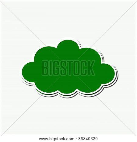 Green Stroke Cloud