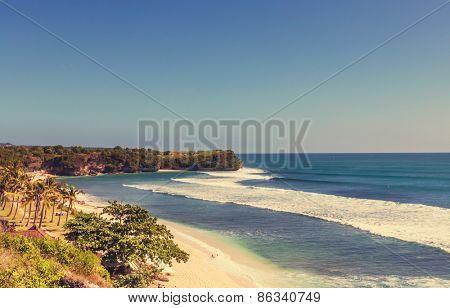 Tropical beach on Bali