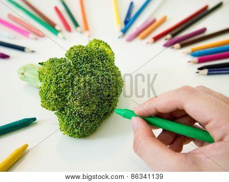 Drawing Broccoli