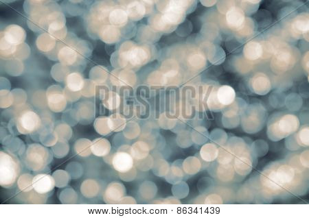 Bokeh background in vintage colour tone