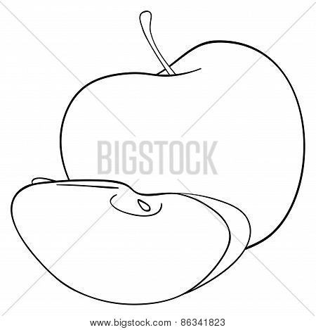 Delightful Garden - An Apple With One Slice