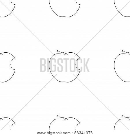 Delightful Garden - Seamless Pattern Of Bitten Apple