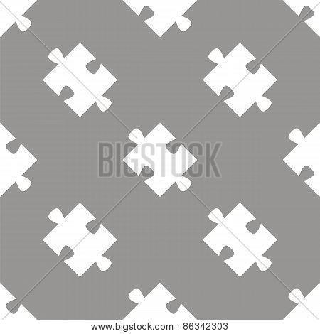 Puzzle seamless pattern