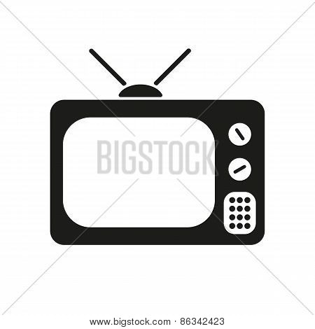 The Tv Icon. Television Symbol. Flat