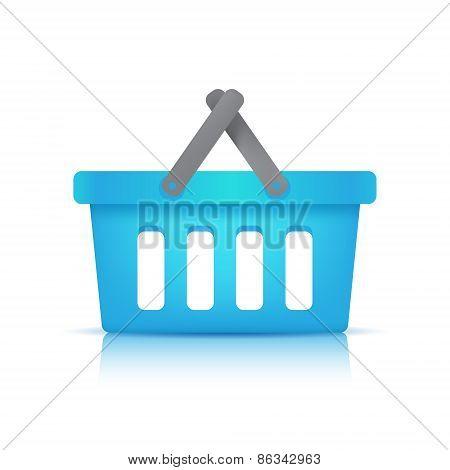 vector blue shopping cart