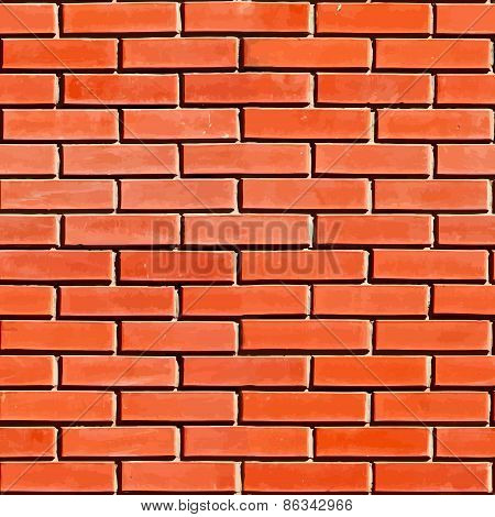 Red Seamless Brickwall
