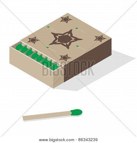 Illustration of matchbox