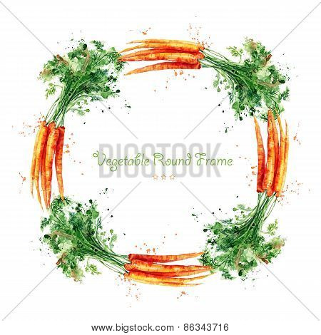 Round frame with carrot.
