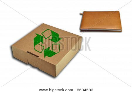 Recycle box and notebook