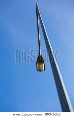Street Lamp On Blue Sky Background