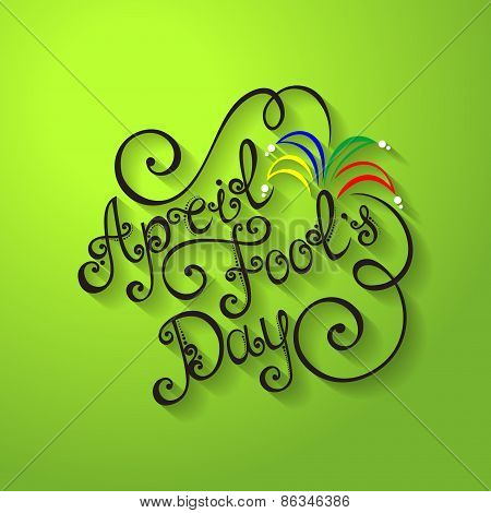 Vector April Fool's Day Inscription, Holiday Symbol. Hand Drawn Lettering