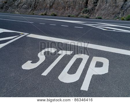 Stop for a priority road