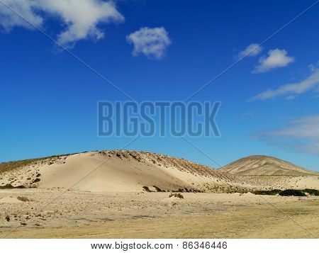 The white dunes of Costa Calma