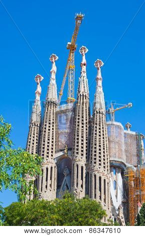 View of Sagrada.Barcelona, Spain