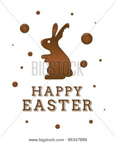 Digitally generated Happy Easter greeting vector