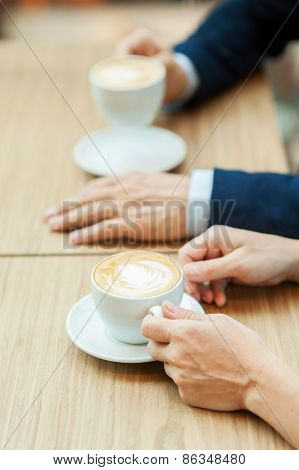 Drinking Coffee Together.
