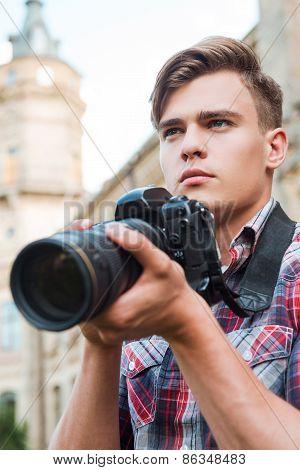 Confident Photographer.