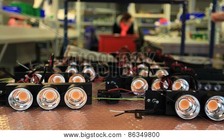 LED lights in manufacturing