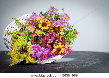 Autumn bouquet flower