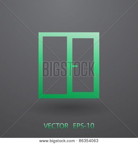 Window icon, vector illustration