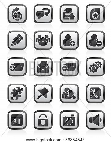 Internet blogging icons