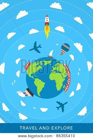 Travel concept vector background