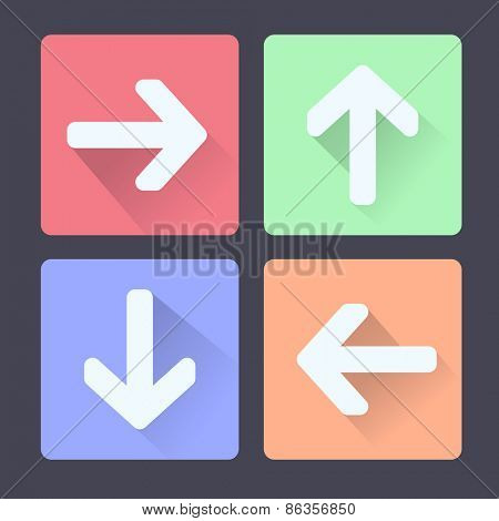 Group of colorful arrows