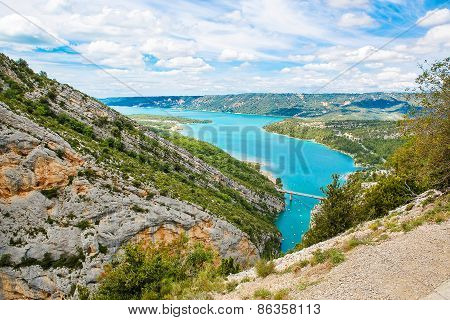 Gorges Du Verdon,provence In France, Europe. Beautiful View On Lac De Sainte-croix