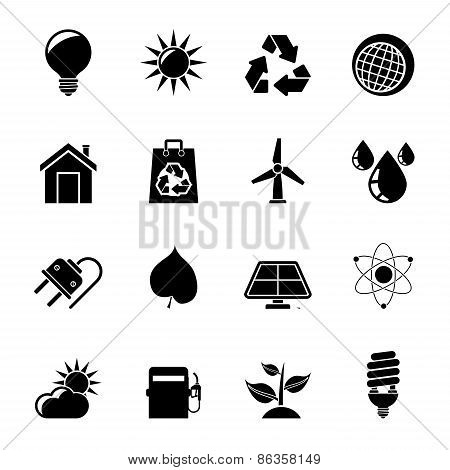 Silhouette Ecology, nature and environment Icons
