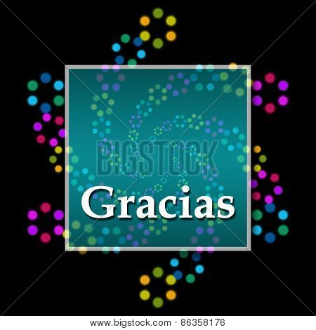 Gracias Black Colorful Square
