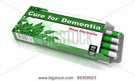 Cure for Dementia - Blister Pack of Pills.