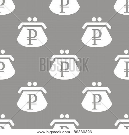 Rouble purse seamless pattern